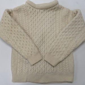 Aran Crafts Ireland Merino Wool Fishermen Sweater
